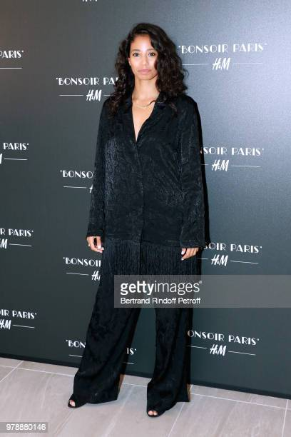 Dancer Hajiba Fahmy attends the HM Flaship Opening Party as part of Paris Fashion Week on June 19 2018 in Paris France