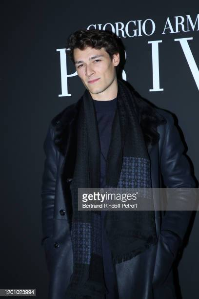Dancer Hugo Marchand attends the Giorgio Armani Prive Haute Couture Spring/Summer 2020 show as part of Paris Fashion Week on January 21, 2020 in...
