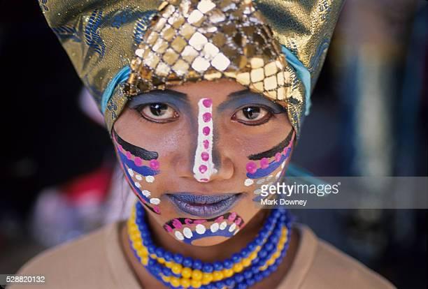Dancer in Sinulog Festival, Cebu Philippines,
