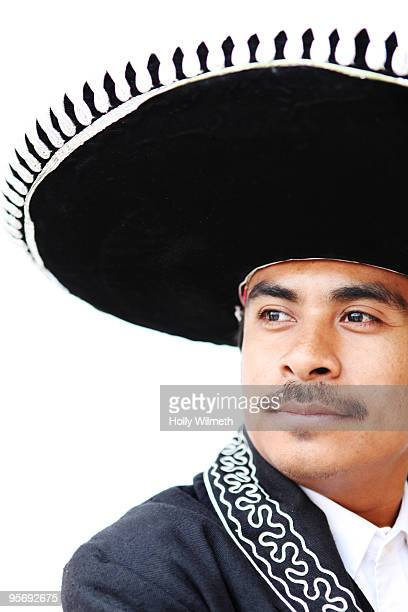 """dancer in traditional """"charro"""" costume - handsome mexican men stock pictures, royalty-free photos & images"""