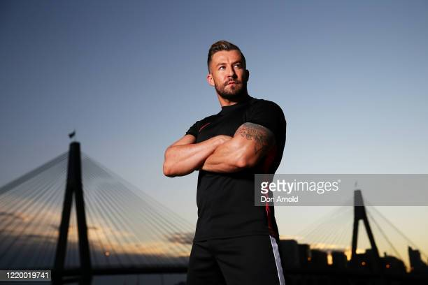 Dancer, instructor and musical theatre performer Heath Keating poses on the shoreline at Blackwattle Bay on April 21, 2020 in Sydney, Australia. With...