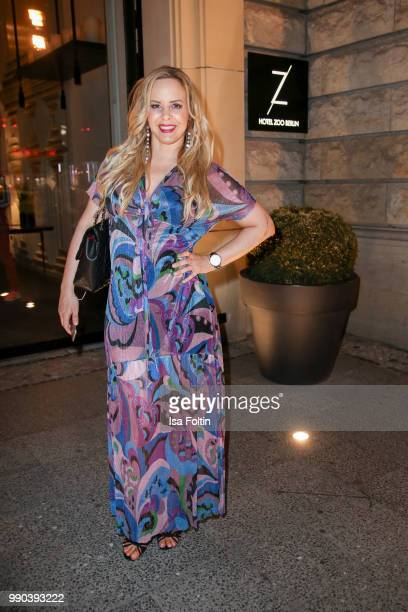 Dancer Isabel Edvardsson during the Bunte New Faces Night at Grace Hotel Zoo on July 2, 2018 in Berlin, Germany.