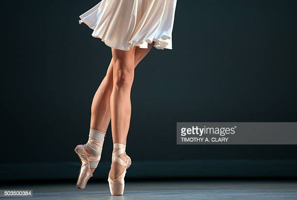Dancer Isabella Boylston performs a scene from 'Nocturne/Etude/Prelude' during a dress rehearsal for Daniil Simkins INTENSIO a program of works by...