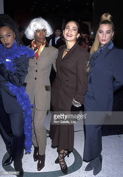 Dancer Jennifer Lopez and Fly Girls attend the Shauna Stein Fashion Show on November 8 1992 at Jose Eber Salon in Beverly Hills California