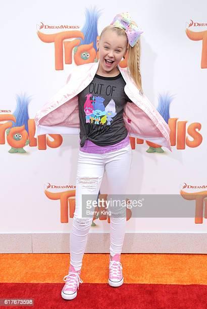 Dancer Jojo Siwa attends the premiere of 20th Century Fox's 'Trolls' at Regency Village Theatre on October 23 2016 in Westwood California