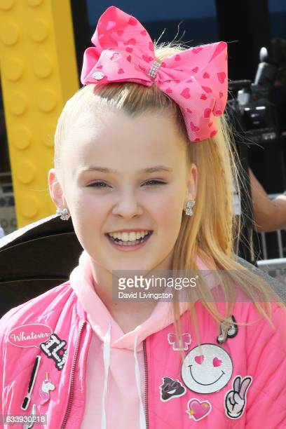 Dancer JoJo Siwa attends the Premiere of Warner Bros Pictures' The LEGO Batman Movie at the Regency Village Theatre on February 4 2017 in Westwood...