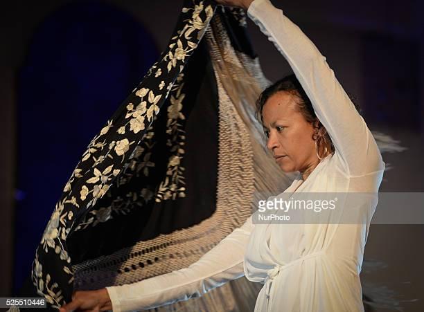 Dancer Juana Calzadilla during a rehearsal of 'Flamenco en Blanco y Negro', at the 2014 Dublin Flamenco Festival, St Michan's Church, Dublin,...