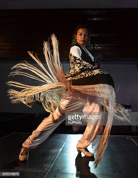 Dancer Juana Calzadilla during a rehersal of 'Flamenco en Blanco y Negro', at the 2014 Dublin Flamenco Festival, St Michan's Church, Dublin, Ireland....