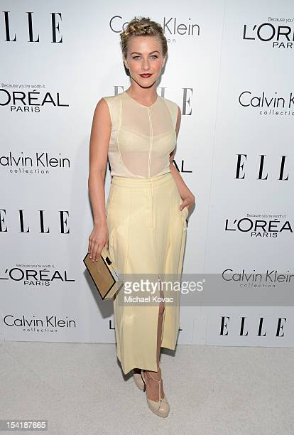 Dancer Julianne Hough arrives at ELLE's 19th Annual Women In Hollywood Celebration at the Four Seasons Hotel on October 15, 2012 in Beverly Hills,...