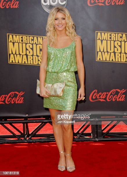 Dancer Julianne Hough arrives at the 2007 American Music Awards at the Nokia Theatre on November 18 2007 in Los Angeles California