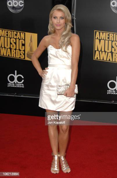 Dancer Julianne Hough arrives at the 2008 American Music Awards held at Nokia Theatre LA LIVE on November 23 2008 in Los Angeles California