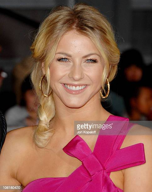 Dancer Julianne Hough arrives at the Los Angeles Premiere 'Enchanted' at the El Capitan Theater on November 16 2007 in Hollywood California