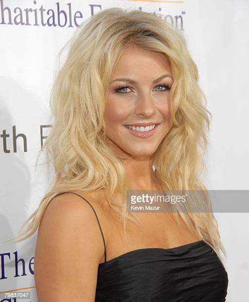 Dancer Julianne Hough arrives to the Andre Agassi 12th Annual Grand Slam for Children at the MGM Grand Garden Arena on October 6 2007 in Las Vegas...