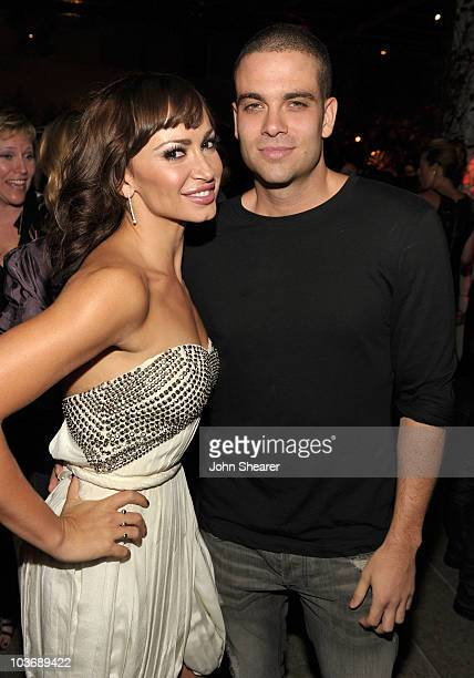 Dancer Karina Smirnoff and actor Mark Salling attend the 2010 Entertainment Weekly and Women In Film PreEmmy party sponsored by L'Oreal Paris at...