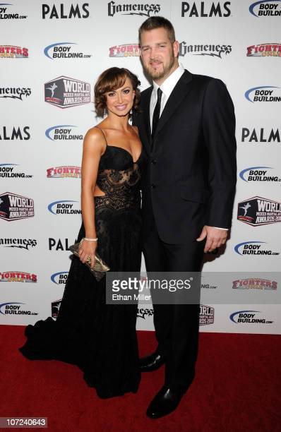 Dancer Karina Smirnoff and her fiance Major League Baseball pitcher Brad Penny arrive at the third annual Fighters Only World Mixed Martial Arts...