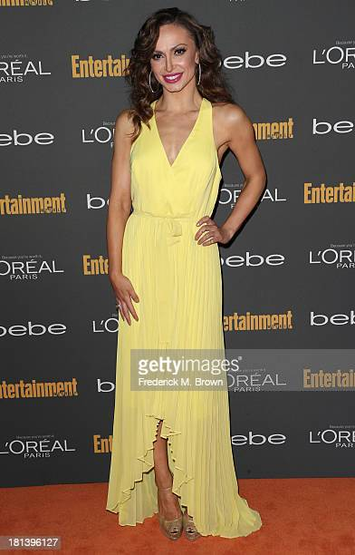 Dancer Karina Smirnoff arrives at Entertainment Weekly's Pre-Emmy Party at Fig & Olive Melrose Place on September 20, 2013 in West Hollywood,...