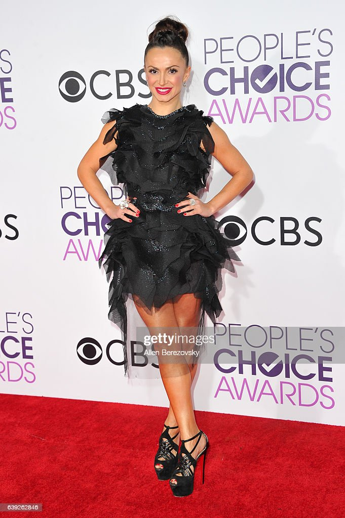 Dancer Karina Smirnoff arrives at People's Choice Awards 2017 at Microsoft Theater on January 18, 2017 in Los Angeles, California.