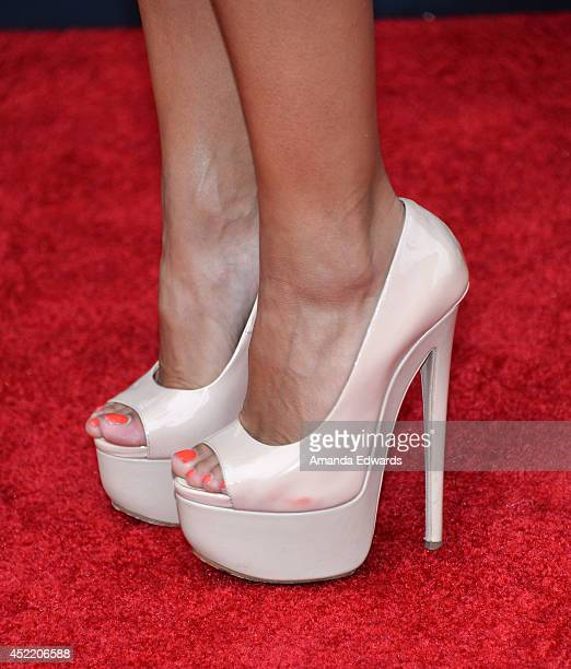 Dancer Karina Smirnoff arrives at the Los Angeles premiere of Disney's Planes Fire Rescue at the El Capitan Theatre on July 15 2014 in Hollywood...