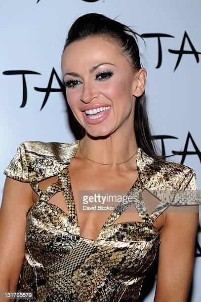 Dancer Karina Smirnoff arrives to host an evening at Tao Nightclub at the Venetian Resort Hotel Casino on June 4, 2011 in Las Vegas, Nevada.