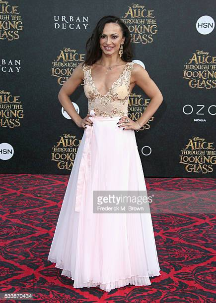 Dancer Karina Smirnoff attends the premiere of Disney's Alice Through The Looking Glass at the El Capitan Theatre on May 23 2016 in Hollywood...