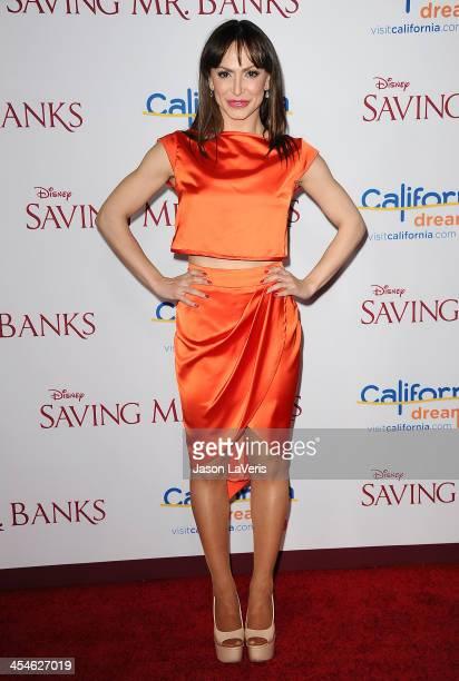 Dancer Karina Smirnoff attends the premiere of Saving Mr Banks at Walt Disney Studios on December 9 2013 in Burbank California