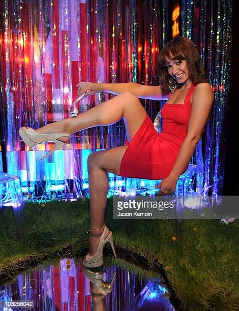 Dancer Karina Smirnoff attends the Schick Intuition Kiss Tell summer party at Stone Rose at the Time Warner Center on August 5 2010 in New York City