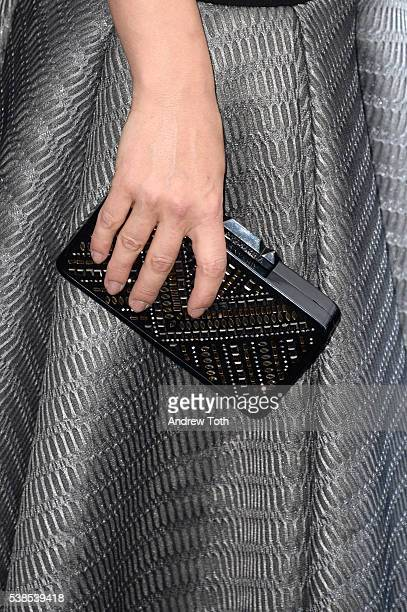 Dancer Karina Smirnoff handbag detail attends the Now You See Me 2 world premiere at AMC Loews Lincoln Square 13 theater on June 6 2016 in New York...