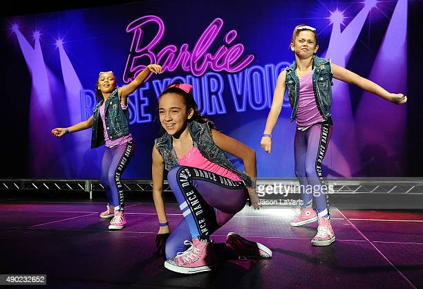 Dancer Kaycee Rice attends the Barbie Rock 'N Royals concert experience at Hollywood Palladium on September 26 2015 in Los Angeles California
