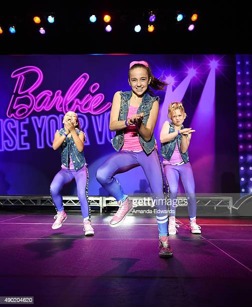 Dancer Kaycee Rice performs onstage at the Barbie Rock 'N Royals Concert Experience at the Hollywood Palladium on September 26 2015 in Los Angeles...