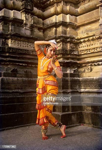Dancer, Khajuraho festival, Madhya Pradesh, India.