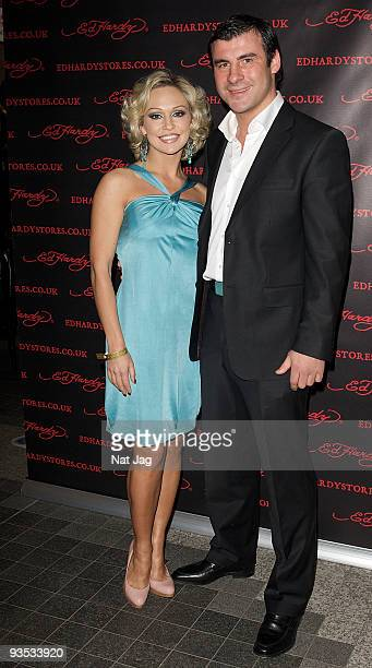 Dancer Kristina Rihanoff and former boxer Joe Calzaghe attend the opening of the new Ed Hardy store at Westfield on December 1, 2009 in London,...
