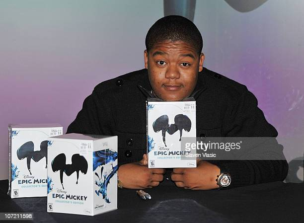 Dancer Kyle Massey attends the launch of Disney's 'Epic Mickey' at Disney Store on November 30 2010 in New York City