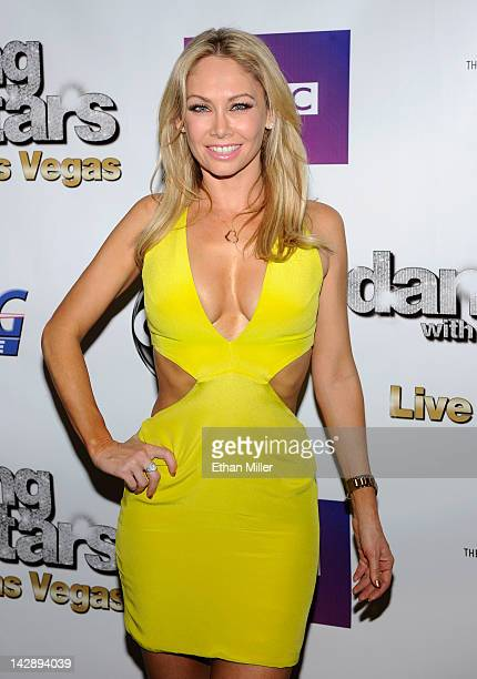 Dancer Kym Johnson arrives at the after party for the grand opening of Dancing With the Stars Live in Las Vegas at the New Tropicana Las Vegas April...