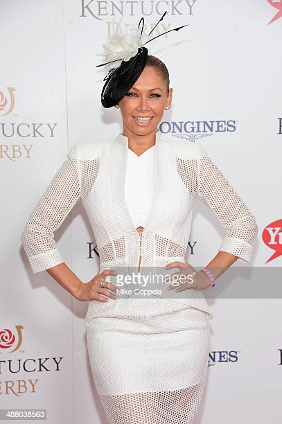Dancer Kym Johnson attends 140th Kentucky Derby at Churchill Downs on May 3 2014 in Louisville Kentucky