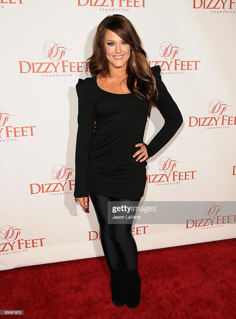 Dancer Lacey Schwimmer attends Dizzy Feet Foundation's 'Celebration of Dance' at the Kodak Theatre on November 29, 2009 in Hollywood, California.