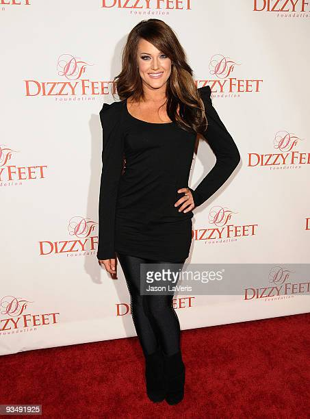 Dancer Lacey Schwimmer attends Dizzy Feet Foundation's 'Celebration of Dance' at the Kodak Theatre on November 29 2009 in Hollywood California