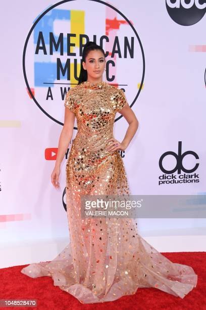 Dancer Lexy Panterra arrives at the 2018 American Music Awards on October 9 in Los Angeles California