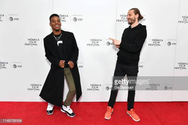 """Dancer Lil Buck, and Director Louis Wallecan attend the """"Lil' Buck: Real Swan"""" screening during the 2019 Tribeca Film Festival at Village East Cinema..."""