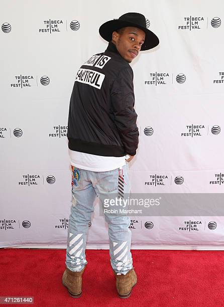 Dancer Lil Buck attends Tribeca Talks After The MovieLes Bosquets during the 2015 Tribeca Film Festival at SVA Theater on April 26 2015 in New York...