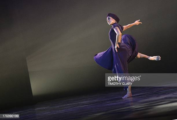 Dancer Linda Celeste Sims with the Alvin Ailey American Dance Theater performs part of 'Four Corners' during a dress rehearsal June 12 2013 as the...