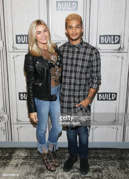 Dancer Lindsay Arnold and recording artist Jordan Fisher discuss The 25th Season Of Dancing With The Stars at Build Studio on September 20 2017 in...