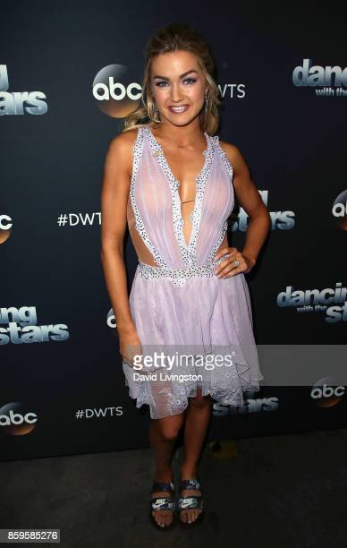 Dancer Lindsay Arnold attends 'Dancing with the Stars' season 25 at CBS Televison City on October 9 2017 in Los Angeles California
