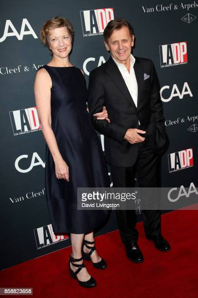 Dancer Lisa Rinehart and choreographer Mikhail Baryshnikov attend LA Dance Project's Annual Gala at LA Dance Project on October 7 2017 in Los Angeles...