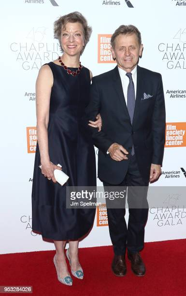 Dancer Lisa Rinehart and Choreographer Mikhail Baryshnikov attend the 45th Chaplin Award Gala honoring Helen Mirren at Alice Tully Hall on April 30...