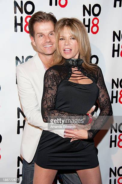 Dancer Louis Van Amstel and actress MaryMargaret Humes arrive at the NOH8 Campaign's 3 Year Anniversary Celebration at House of Blues Sunset Strip on...