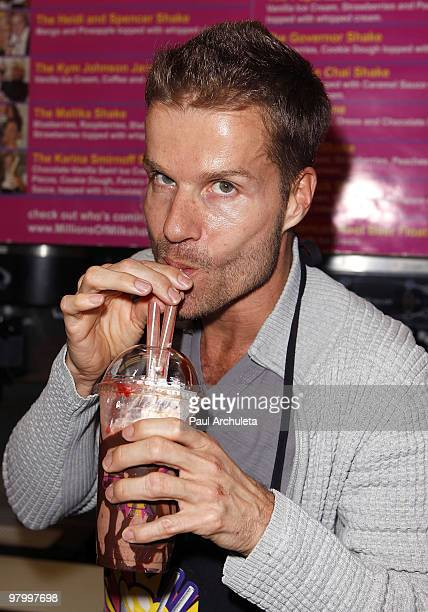 Dancer Louis van Amstel attends the launching of Niecy Nash's milkshake at Millions Of Milkshakes on March 23 2010 in West Hollywood California