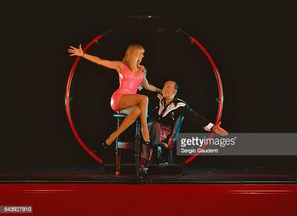 Dancer Lova Moor and her husband, director of the Crazy Horse music hall, Alain Bernardin.
