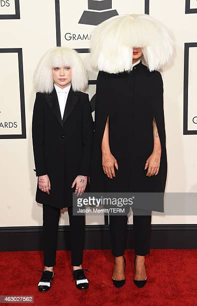 Dancer Maddie Ziegler and singer/songwriter Sia attend The 57th Annual GRAMMY Awards at the STAPLES Center on February 8 2015 in Los Angeles...