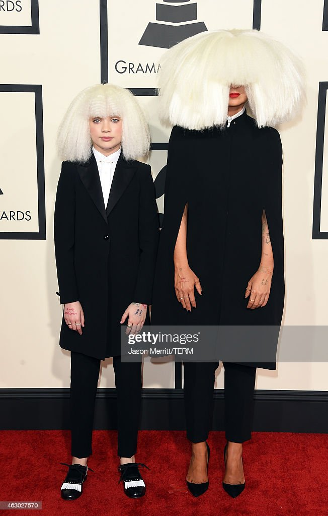 Dancer Maddie Ziegler (L) and singer/songwriter Sia attend The 57th Annual GRAMMY Awards at the STAPLES Center on February 8, 2015 in Los Angeles, California.