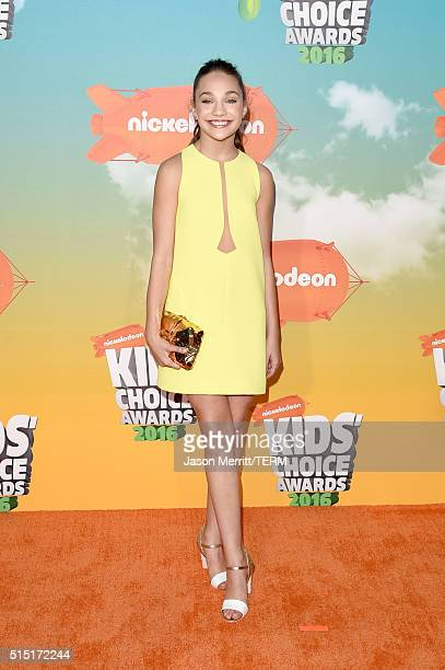 Dancer Maddie Ziegler attends Nickelodeon's 2016 Kids' Choice Awards at The Forum on March 12 2016 in Inglewood California